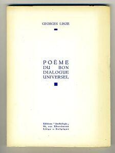 (106B) Georges LINZE Poème du bon dialogue universel