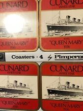 New Pimpernel Coasters Cunard White Star Queen Mary Set of 4
