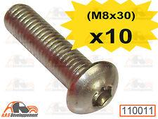 10 VIS INOX pour fixation de pare choc avant & arrière de Citroen 2CV  -110011-