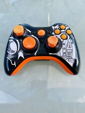 Xbox 360 (OFFICIAL) Wireless MODDED Controller - Black & Orange - Ex. Condition