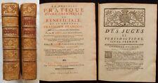 J* [Droit]..PRATIQUE CIVILE CRIMINELLE BENEFICIALE PRATICIEN FRANCOIS Lange 1755
