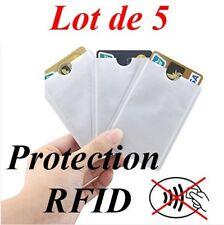 5Pochette de protection RFID / NFC pour carte bancaire Etui protecteur securité