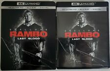 RAMBO: LAST BLOOD 4K ULTRA HD BLU RAY 2 DISC SET + SLIPCOVER SLEEVE FREE SHIPPIN