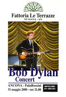 BOB DYLAN rare ANCONA 23x18 cm flyer RARO original rock folk 2000