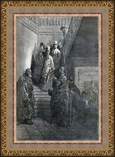 Antique print inn Burgos Spain / portrait beggars 1876 grabado fonda
