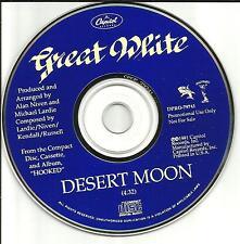 GREAT WHITE Desert Moon 1991 USA PROMO Radio DJ CD single MINT DPRO79741