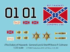 """[FFSMC Productions] Decals 1/25 """"Dukes of Hazzard"""" (""""Sheriff fais moi peur"""")"""
