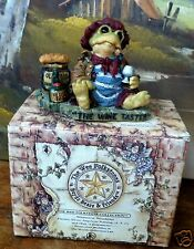 "1998 Boyds Wee Folkstones ~Jacques Greenville Frog ""The Wine Taster""~ #36702~Nib"