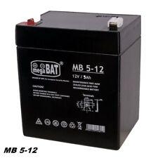 MegaBAT AGM USV Batterie MB-5-12 VRLA 12V 5Ah Notstromversorgung  wartungsfrei
