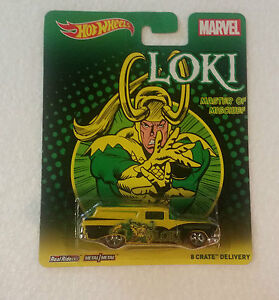 1:64 HOT WHEELS LOKI MASTER OF MISCHIEF 8 CRATE DELIVERY