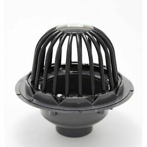"""ProFlo PF42850 3"""" PVC Roof Drain with Cast Iron Dome"""