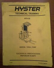 Hyster Forklift Technical Training Manual R30XM, XMA, XMF (871939)