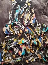 Matthew Williamson para H&M de seda de la colmena dress US6 UK10