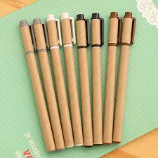 1pcs Kraft Gel Pen Stationery 0.5mm Ballpoint Tip Black Eraser Ink  Colors New