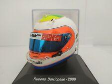 1/5 CASCO RUBENS BARRICHELLO 2009 HELMET COLECCION F1 FORMULA 1 A ESCALA DIECAST