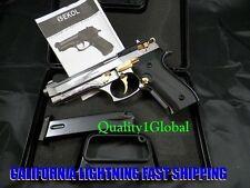 Metal Deluxe 3D Chrome Gold Ekol Firat Replica Beretta 92 Movie Prop Pistol Gun