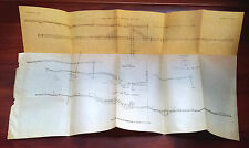 1920s Sketch Map Diagram Plan Workings, Chickaloon Mine, E. & W. Vertical Sec.