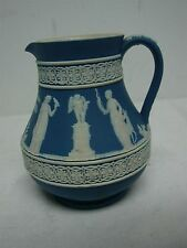 ANTIQUE WEDGWOOD ENGLAND DARK BLUE JASPERWARE CREAMER ~ 4 1/2""