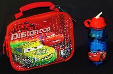 DISNEY CARS McQUEEN Lead Safe Drink Container & Insulated Lunch Tote Box Set $28