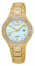 Seiko Women's Golden-Tone Mother of Pearl Dial Watch SUT284