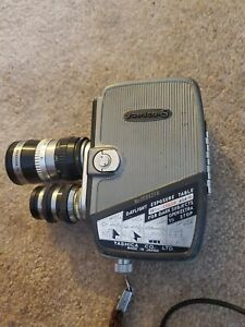 Vintage Yashica-8 8mm Movie Camera with rotating dual multi lenses