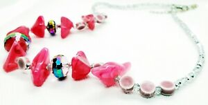 Women's Necklace Catalogue Fashion Jewellery – SPARK PINK CHIP FACETED BEAD NECK