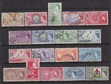 BERMUDA 1953 QEII DEFINITIVE SET FINE USED