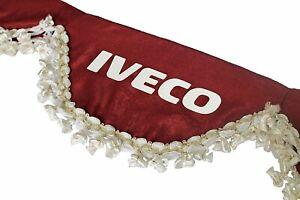 BURGUNDY Window Shield Windscreen Truck Lorry Waveform Curtains Pelmet for IVECO