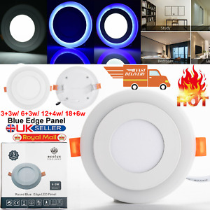 ROUND LED CEILING PANEL LIGHT RECESSED DOWN LAMP DOWNLIGHT CONCEALED LIGHTS UK
