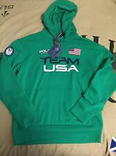Nwt Polo Ralph Lauren USA Olympic Team Brasil 2016 Hoodie XL Ski Rrl Bear Green