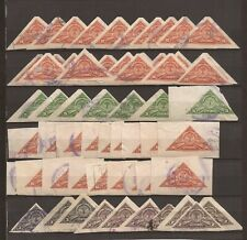 COSTA RICA- Quantity of used imperf triangles- 1937 Stamp Show