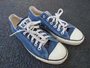 Vtg 80s 90s Converse All Star USA Made Blue Tennis Shoes Sz 6.5 US Chuck Taylor