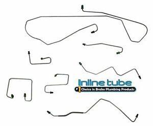 1998-02 Fits Dodge Durango 4x4 Power Disc/Drum w/ABS Front Brake Lines Stainless