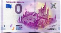 2019 Alcazar de Segovia Spain 0 Euro Souvenir Banknote Series 2019-1