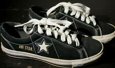 Vintage Converse One Star Suede Shoes Black Womens Size 6