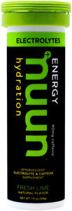 Nuun Electrolytes + Caffeine Hydration Tablets: Fresh Lime, Box of 8 Tubes