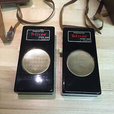 2 VINTAGE TELECON TRANSCEIVER 9 TRANSISTOR CITIZEN BAND W/ CASE ART DECO Japan