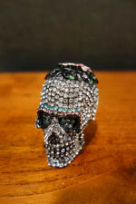 OLIVIA RIEGEL Crystal & Enamel Skullina Box New in Box