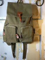 Manjianghong Olive And Brown Mens Casual Messenger Backpack Canvas