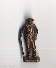 KINDER FERRERO soldatini metallfiguren MUSKETIERE MOSCHETTIERE 2 kupfer RP 1482