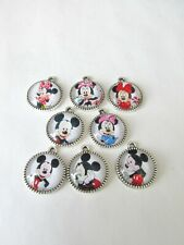 8pc handmade 16mm Micky and Minnie Mouse charms