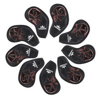 9pcs(5-9,P,S,A,X) Golf Club Wedge Cover Iron Head Covers For Taylormade P790's