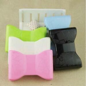 Fashion Bow Travel Contact Lens Case Soak Storage Box Holder Mirror Tweezer