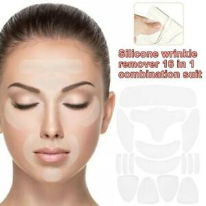 16Pcs Silicone Anti Wrinkle Pad Patches For Face  Eye Forehead Reusable wda sxd