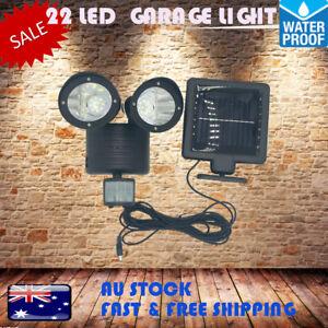 22 LED DUAL Solar Adjustable Garage Lights Motion Sensor Lamp Security Yard Shed