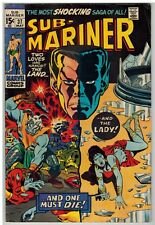 SUB-MARINER #37 1971 DEATH OF LADY DORMA MARVEL BRONZE AGE!