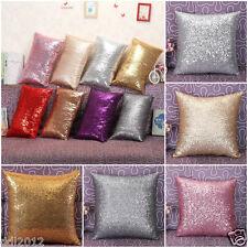 Fashion Glitter Sequins Throw Pillow Case Sofa Waist Cushion Cover Home Decor