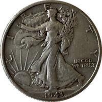 1943 Silver Walking Liberty Half Dollar Grading VF/XF