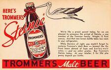 Brooklyn NY Trommer's Malt Beer Brewing Company Postcard