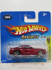 Hot Wheels 2005 Premier �‰ditions Ford Mustang Gt Realistix #006 Court Carte